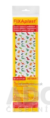 FIXAplast Detská náplasť nedelená s vankúšikom 50 cm x 6 cm 1x1 ks
