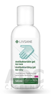 LIVSANE Antibakteriálny gél na ruky 1x50 ml