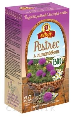 AGROKARPATY elixír BIO Pestrec s rumančekom bylinný čaj v nálevových vreckách 20x2 g (40 g)