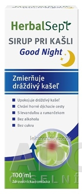 HerbalSept SIRUP PRI KAŠLI Good Night 1x100 ml