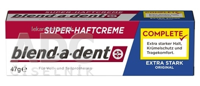 blend-a-dent EXTRA STARK ORIGINAL complete super fixačný dentálny krém 1x47 g