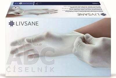 LIVSANE Latexové rukavice nepúdrované M veľ. 7-8, nesterilné 1x100 ks