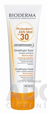 BIODERMA Photoderm AKN MAT SPF 30 fluid 1x40 ml