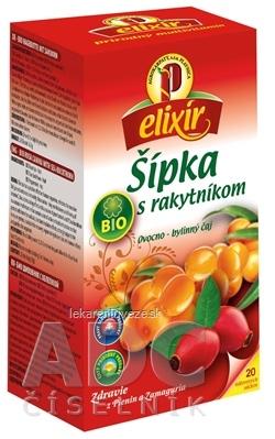 AGROKARPATY BIO Šípka s Rakytníkom ovocno - bylinný čaj, balené vrecúška, 20x1,5 g (30 g)
