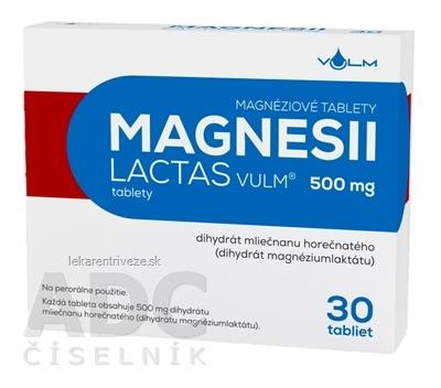 MAGNESII LACTAS VULM 500 mg tbl (blis.Al/PVC) 1x30 ks