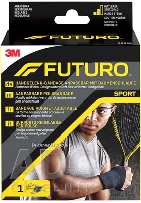 3M FUTURO SPORT bandáž na zápästie stredná opora, (09033) 1x1 ks