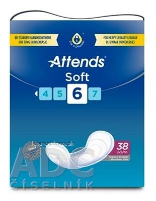 ATTENDS Soft 6 vkladacie plienky, savosť 1250 ml, 1x38 ks