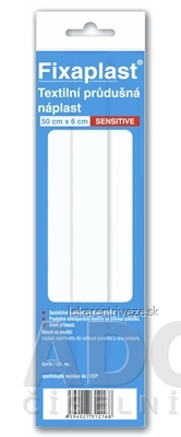 FIXAplast SENSITIVE náplasť textilná priedušná 0,5m x 6cm, 1x1 ks