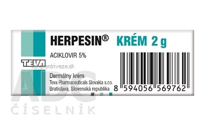 HERPESIN KRÉM crm (tuba Al) 1x2 g