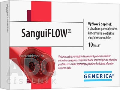 GENERICA SanguiFLOW tbl 1x10 ks