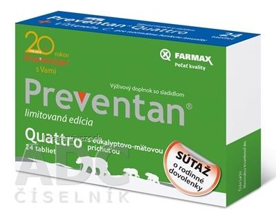 FARMAX Preventan Quattro + vitamín C tbl limitovaná edícia - súťaž 1x24 ks