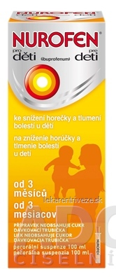NUROFEN pre deti sus por (fľ.PET hnedá) 1x100 ml