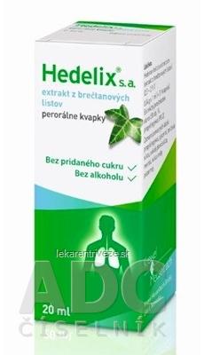 HEDELIX S.A. gtt por (liek.skl.hnedá) 1x20 ml