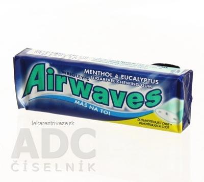 Airwaves MENTOL EUKALYPTUS Dražé žuvačky 10x1,4 g (14 g)