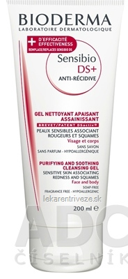 BIODERMA Sensibio DS+ moussant anti-recidive jemne čistiaci penivý gél 1x200 ml