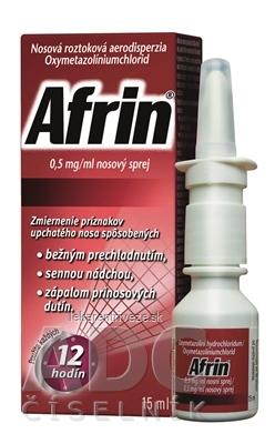 Afrin 0,5 mg/ml nosový sprej aer nao (fľ.HDPE) 1x15 ml