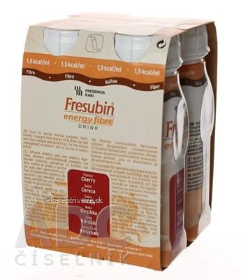 Fresubin Energy fibre DRINK EasyBottle, príchuť višňová, 4x200 ml (800 ml)