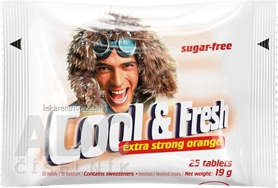 Cool & Fresh extra strong orange pastilky 1x25 ks