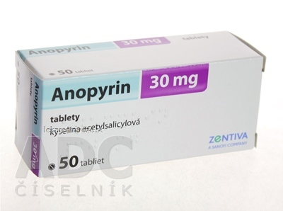 Anopyrin 30 mg tbl 30 mg 1x50 ks
