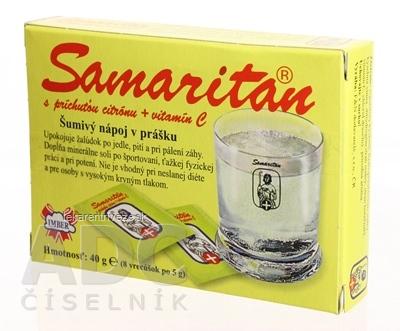 SAMARITAN s citrónovou príchuťou šumivý nápoj v prášku 8x5 g (40 g)