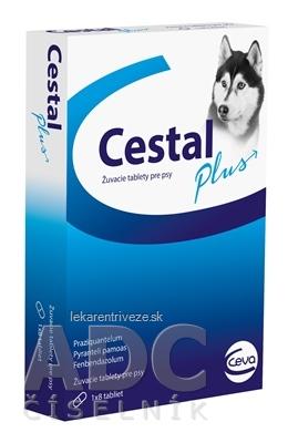 CESTAL PLUS žuvacie tablety pre psy 1x8 ks