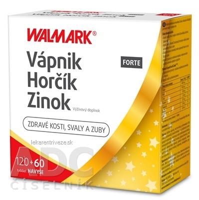 WALMARK Vápnik Horčík Zinok FORTE PROMO 2019 tbl 120+60 ks navyše (180 ks)