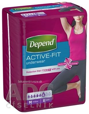 DEPEND ACTIVE-FIT M pre ženy inkontinenčné nohavičky, veľkosť M (71-102 cm) 1x8 ks
