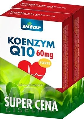 VITAR KOENZYM Q10 FORTE 60 mg DUOPACK cps 2x60 (120 ks), 1x1 set