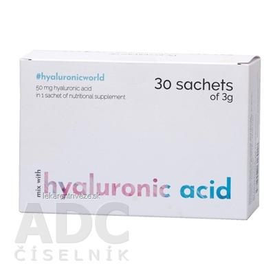 hyaluronic acid prášok na prípravu nápoja vo vrecúškach (á 3 g) 1x30 ks