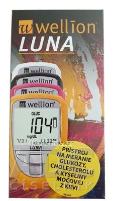 Wellion LUNA Trio s príslušenstvom merací systém na meranie glukózy, cholesterolu a kyseliny močovej, 1x1 set