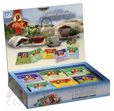 AGROKARPATY ZDRAVIE Z PIENIN A ZAMAGURIA čajová kazeta, (6x8) 48 nálevových vrecúšok po 2 g (96 g)