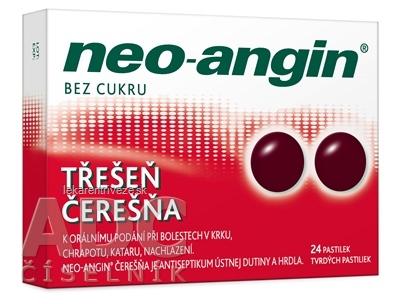 Neo-angin čerešňa tvrdé pastilky pas ord (blis.PVC/PVDC/Al) 1x24 ks