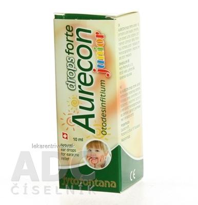 Fytofontana Aurecon drops forte Junior ušné kvapky 1x10 ml s obsahom rastlinných extraktov