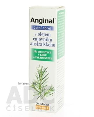Dr. Müller ANGINAL ÚSTNY SPREJ s olejom čajovníka austrálskeho 1x30 ml