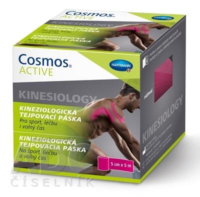Cosmos ACTIVE Kineziologická tejpovacia páska ružová (5cm x 5m) 1x1 ks
