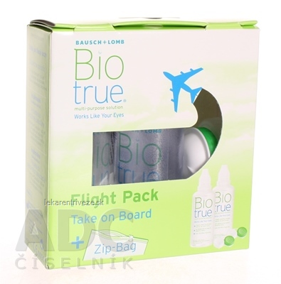Biotrue multi-purpose solution flight pack roztok na kontaktné šošovky (zelený) 2x60 ml