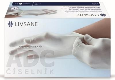 LIVSANE Latexové rukavice nepúdrované L veľ. 8-9, nesterilné 1x100 ks