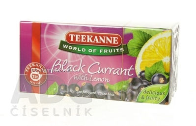 TEEKANNE WOF BLACK CURRANT ovocno-bylinný čaj 20x2,5 g (50 g)