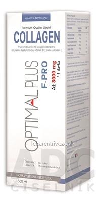 OPTIMAL PLUS F - PRO COLLAGEN nová vylepšená receptúra, roztok 1x500 ml