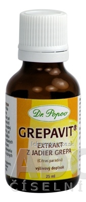 DR. POPOV Grepavit (grep - extrakt z jadier) kvapky 1x25 ml