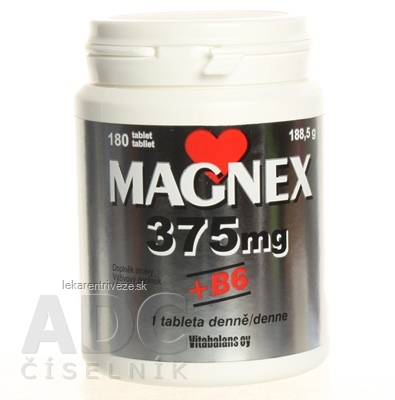 Vitabalans MAGNEX 375 mg + B6 tbl 1x180 ks