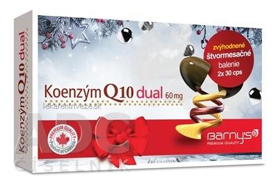 Barnys Koenzým Q10 dual 60 mg cps 2x30 (60 ks) zvýhodnené štvormesačné balenie, 1x1 set