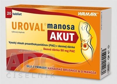 WALMARK UROVAL manosa AKUT tbl 1x20 ks