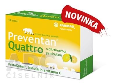 FARMAX Preventan Quattro s citrónovou príchuťou tbl 1x12 ks