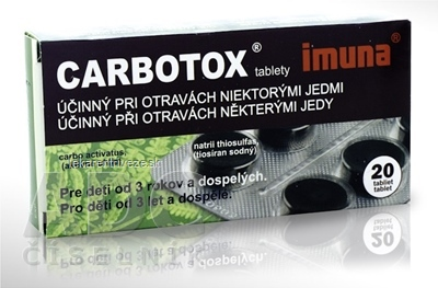 CARBOTOX tbl 320 mg (blister PVC/Al) 1x20 ks