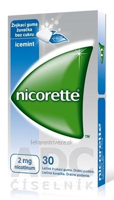 Nicorette Icemint Gum 2 mg gum med (blis.PVC/PVDC/Al) 1x30 ks