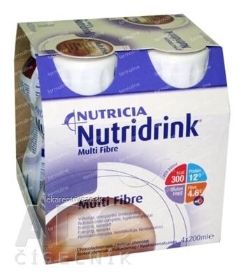 NUTRIDRINK MULTIFIBRE čokoládová príchuť (inov.verzia) 4x200 ml