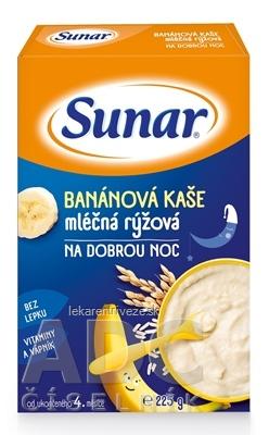 Sunar BANÁNOVÁ KAŠA mliečna ryžová NA DOBRÚ NOC (od ukonč. 4. mesiaca) 1x225 g