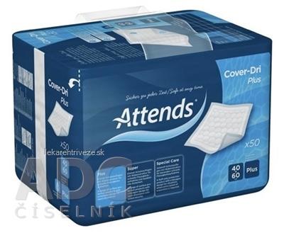 ATTENDS Cover-Dri Plus podložka inkontinenčná, savosť 410 ml, veľkosť 40x60 cm, 1x50 ks
