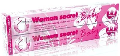 Woman secret BABY tehotenský test tyčinkový (1+1 zadarmo) 1x2 ks